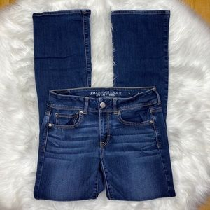 American Eagle Blue Bootcut Jeans Size 6 Long